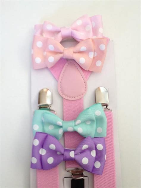 Pink Polka Does It Again Pet Pet Pet Product by Easter Boys Bowtie Suspender Set Pastel Mens Bowtie