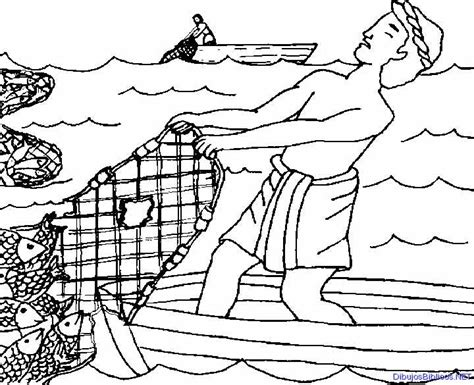 coloring pages of jesus fishing the miraculous catch of fish coloring pages