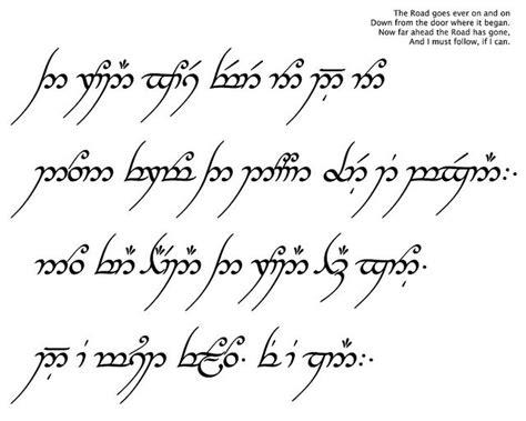 tattoo fonts elvish the road goes on tats tattoos elvish