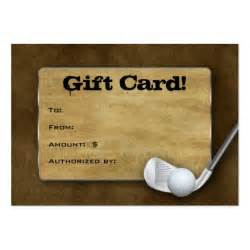 1 day business cards golf gift card s day brown large business card zazzle