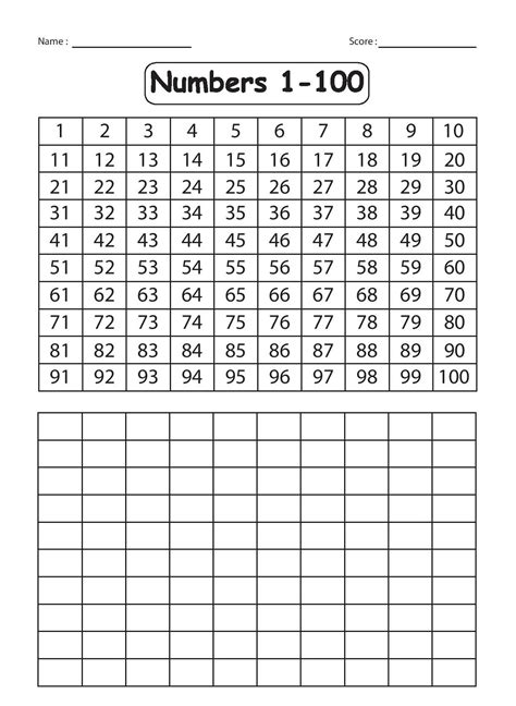 Writing Numbers 1 100 Worksheet kindergarten worksheets december 2015