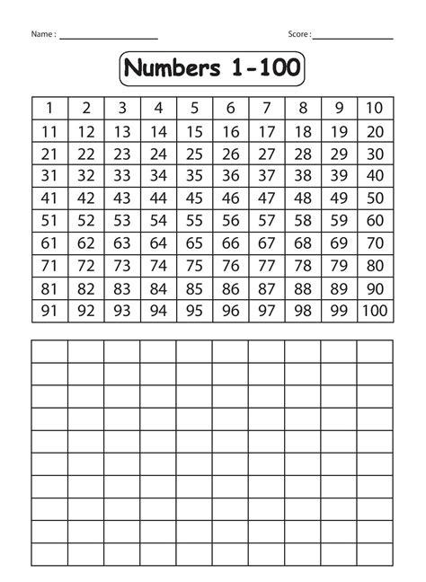 free printable worksheets numbers 1 100 kindergarten worksheets december 2015
