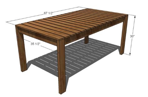 woodwork   build  outdoor table  plans