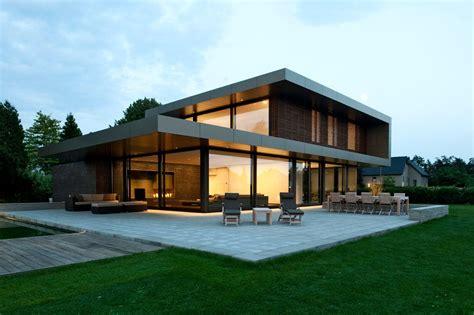 Haus P by Gesamtansicht Beleuchtet Mit Terasse Efh Einfamilienhaus