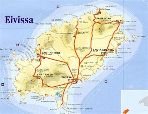 san jose map ibiza the islands of spain
