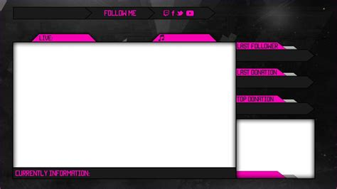 Free Twitch Overlay Template Shatterlion Info Twitch Info Templates