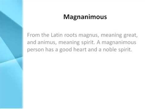 meaning in magnanimous definition what does magnanimous