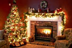 tree and fireplace wallpaper free wallpapers