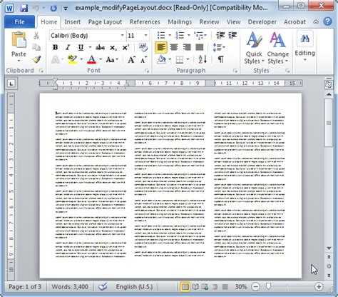 layout word document modifypagelayout modifies the word document layout phpdocx