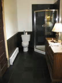 Black Slate Bathroom Floor » Home Design