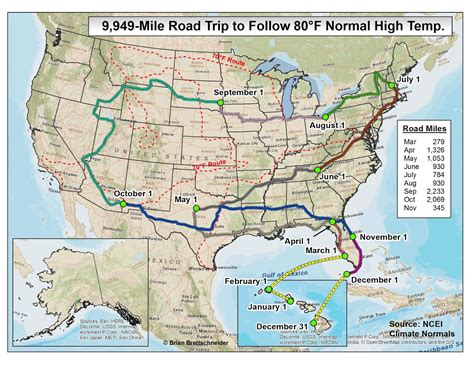 road trip maps of the usa brian b s climate 70 176 f road trip