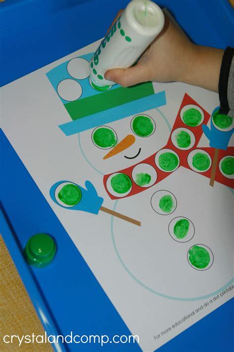 printable snowman activities for preschool snowman do a dot printables for preschoolers