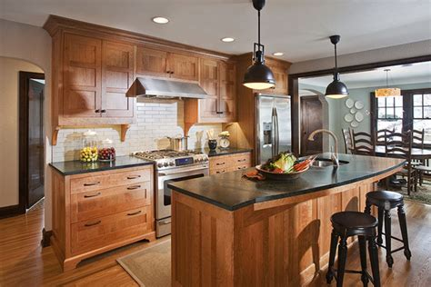 Kitchen With Green Countertops by Saratoga Soapstone Vineyard Green Traditional
