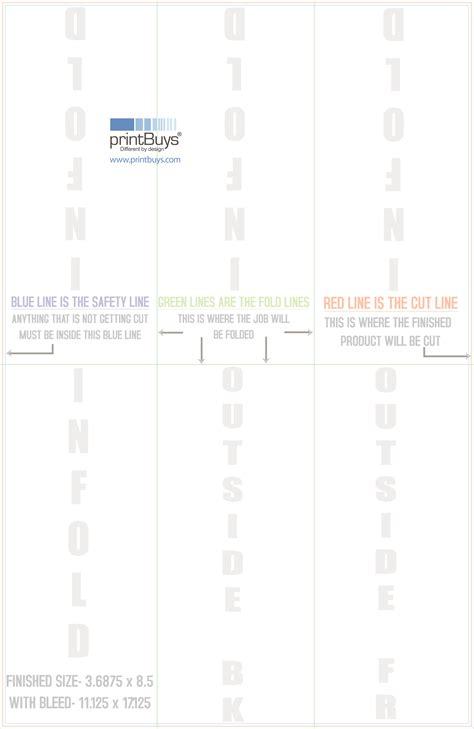 11 x 17 half fold tri fold template ppt file templates