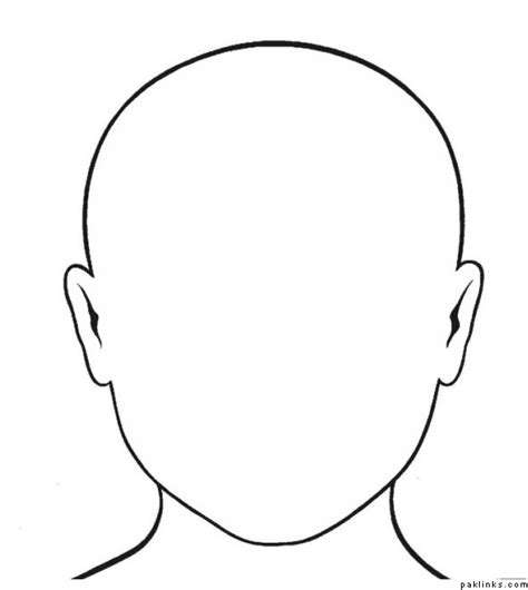 blank mask template blank outline cliparts co
