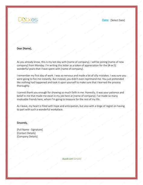 Thank You Letter Leaving To Thank You Letter To 8 Plus Best Sles And Templates