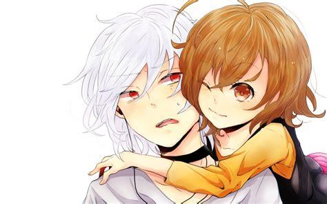anime eyes boy and girl brunettes brown eyes red eyes short hair accelerator