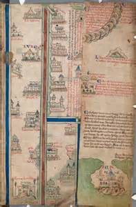 maps of matthew paris palestine date ca 1250 a d author matthew