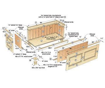 cedar lined blanket chest woodworking plan chest