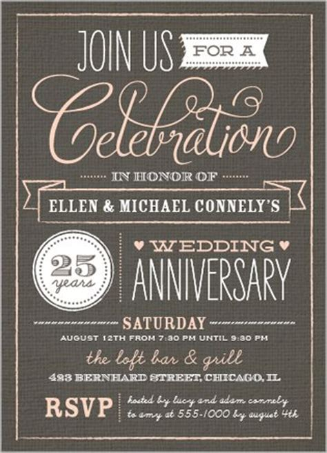 work anniversary template wedding anniversary invitations anniversary invitations