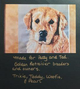 golden retriever cross stitch cross stitch picture gallery by s sewing studio