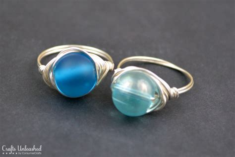 bead ring wire rings tutorial how to make wire wrapped bead rings