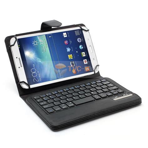 Keyboard Laptop Elastis universal 7 inch 8 inch tablet pc bluetooth keyboard leather cover w elastic frame