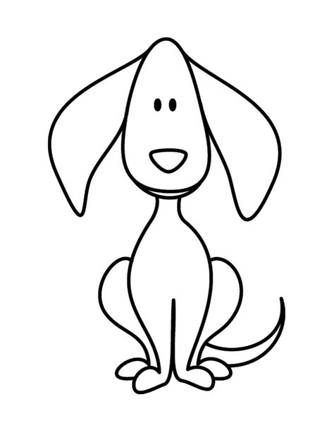 easy puppy drawing simple drawing clipart best