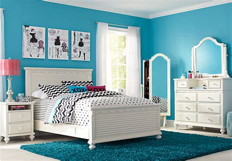 full bedroom emma s escape white 4 pc full panel bedroom 9 drawer dresser