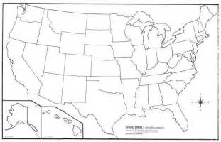 blank political map of the united states state map blank