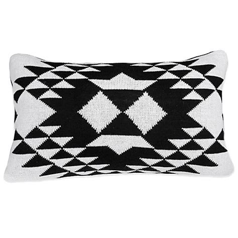 black throw pillows bed bath and beyond blink knit oblong throw pillow in black bed bath