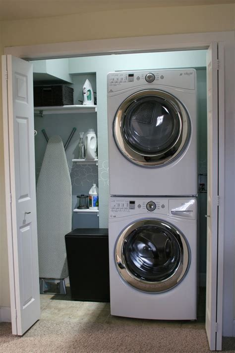 washer and dryer covers saves them from getting scratched up how to projects pinterest small closet washer dryer small space laundry makeover