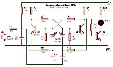 transistor mosfet exercice electronique bases bascules on