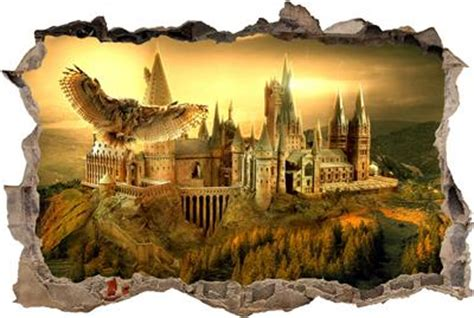 Large Nursery Wall Stickers hogwarts harry potter smashed wall decal removable wall