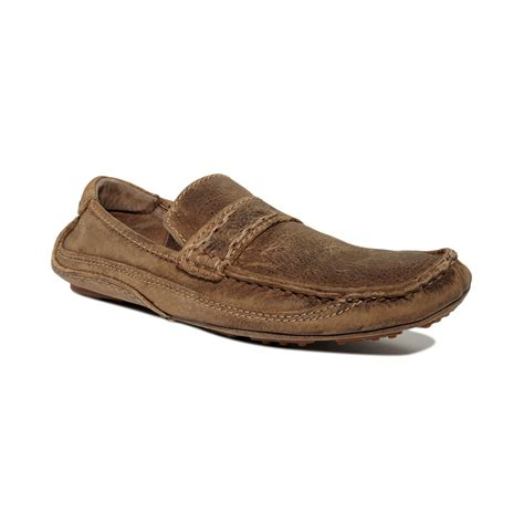 bed stu men s shoes bed stu keeper slip on loafers in brown for men lyst