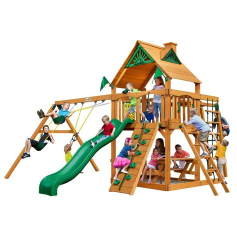 diy swing set accessories gorilla playsets navigator with amber posts cedar playset