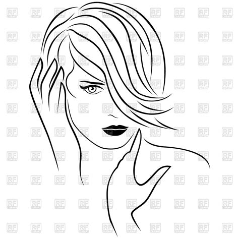 cute hairstyles vector cute young girl with short hairstyle vector image 124125