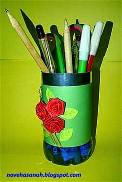 cara membuat kerajinan tangan tempat pensil dari botol aqua kerajinan tangan dari botol plastik bekas tempat pensil