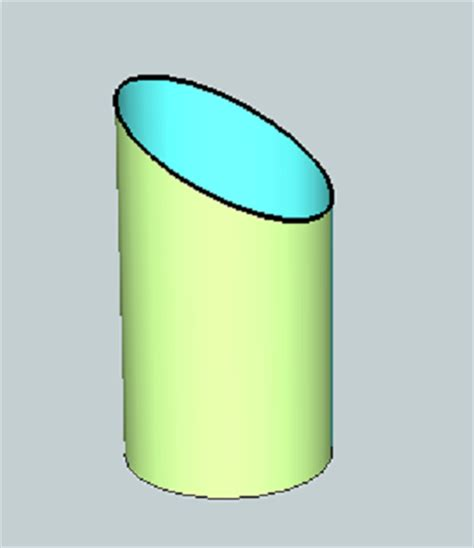 David S Blog Ellipse By Cylindrical Section