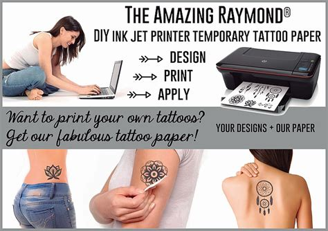 laser printer tattoo transfer paper diy temporary tattoos inkjet printer diydry co