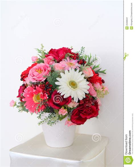 beautiful flowers in vase stock image image 23490641