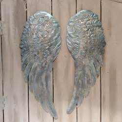 Wings Wall Decor large metal wings wall decor distressed silver