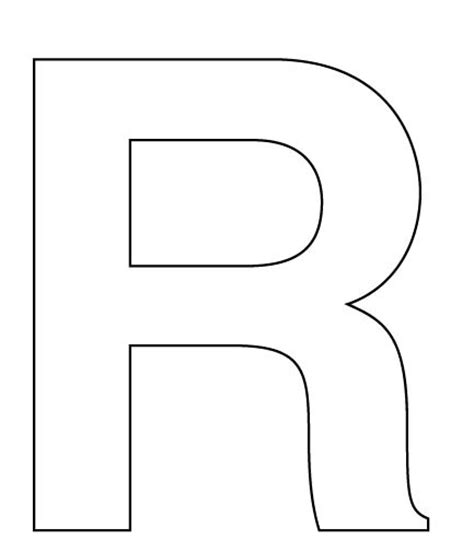 best photos of big letters to cut out letter r to cut