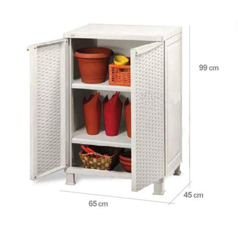 armadi in rattan da esterno armadio in resina effetto rattan 65x45h99 cm bianco o