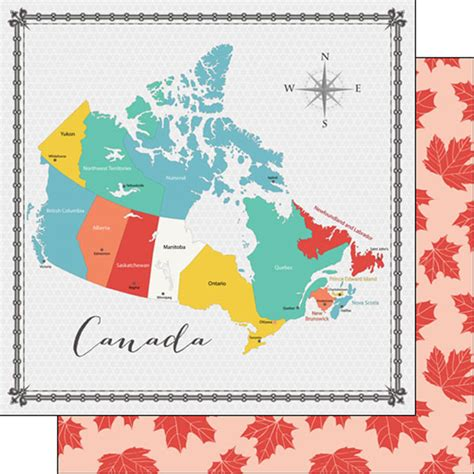 Memories Paper - canada scrapbooking canada memories map paper