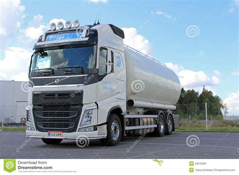 volvo transport white volvo tank truck for food transport editorial photo
