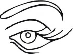 eye coloring page simple outlines clipart best