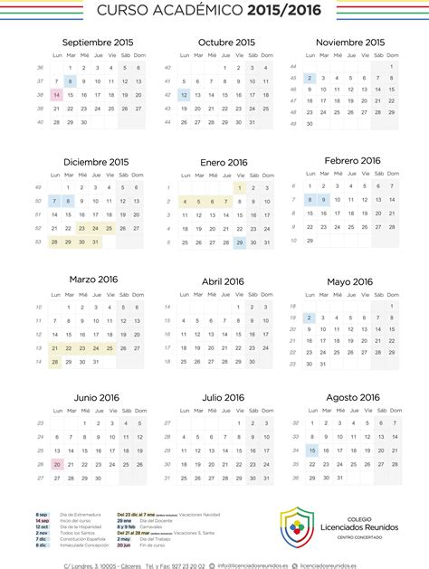 Pr Calendar Template by Calendario Escolar 2016 De Calendar Template
