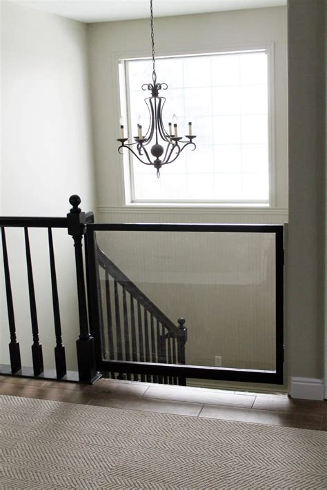 Baby Gate For Bottom Of Stairs With Banister A Diy Baby Gate Chris Loves Julia