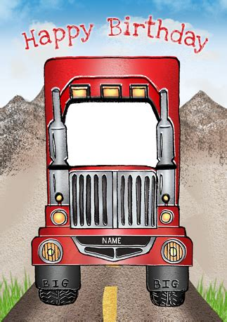 Truck Birthday Cards Free